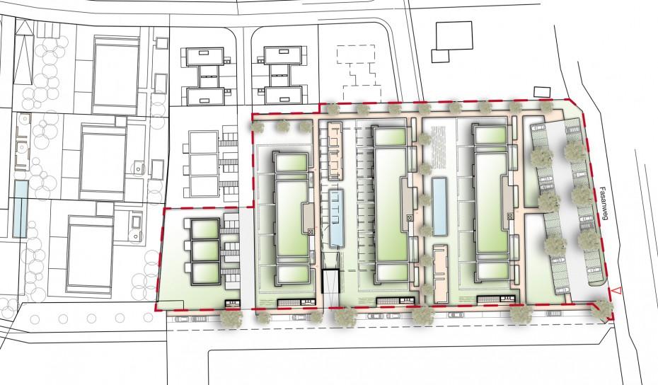 Wohnanlage Pichling Fasanweg - Lageplan
