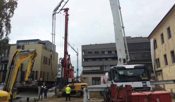 Baubeginn Oberlandesgericht Museumstrasse